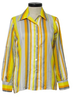 1970's Womens Mod Disco Shirt