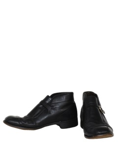 1970's Mens Accessories - Mod Ankle Beetle Boot Shoes