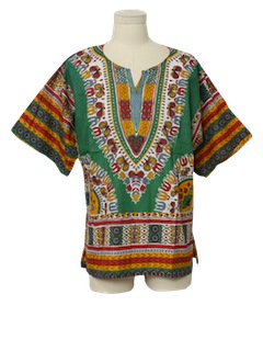 1970's Unisex Dashiki Hippie Shirt