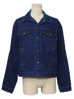 1980's Mens Denim Trucker Jacket