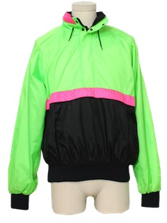 1990's Mens Wicked 90s Neon Windbreaker Jacket