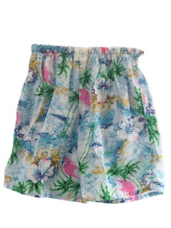 1980's Unisex Totally 80s Hawaiian Shorts