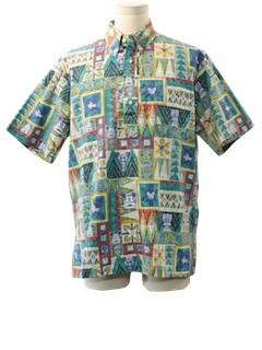 1980's Mens Disney Reverse Print Hawaiian Shirt
