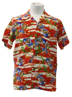 1950's Mens/Boys Hawaiian Shirt