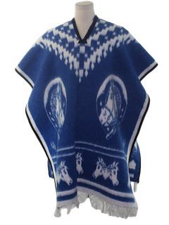 1970's Unisex Hippie Poncho Jacket