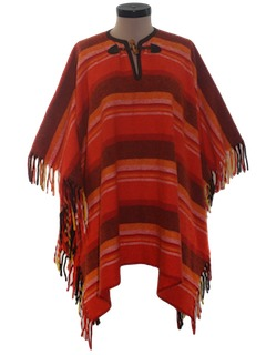 1960's Womens Hippie Poncho Jacket
