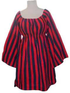 1970's Womens Mini Hippie Dress