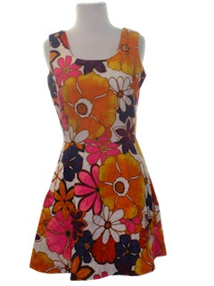 1970's Womens Mini Hawaiian Dress