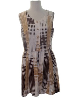 1970's Womens Mini Sun Dress
