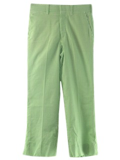 1980's Mens Christmas Green Golf Pants
