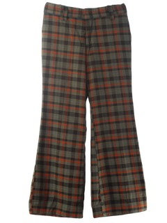 1970's Mens Mod Bellbottom Disco Pants