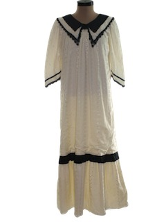 1970's Womens Maxi Prairie Dress
