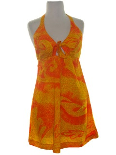 1960's Womens Hawaiian Mini Dress