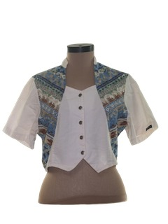 1990's Womens Western Style Shirt