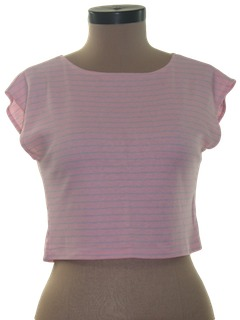 1980's Womens Totally 80s Crop Top Shirt