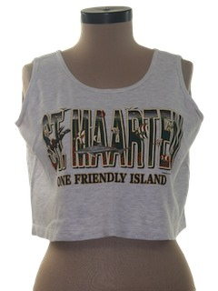 1990's Womens Wicked 90s Crop Top Tank Top T-Shirt