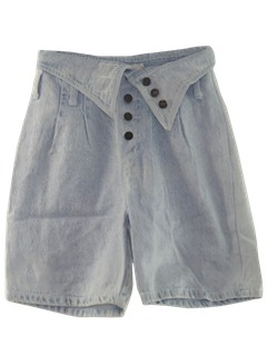 1990's Womens Wicked 90s Acid Washed Denim Shorts