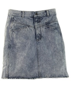 1990's Womens Wicked 90s Acid Washed Denim Mini Skirt