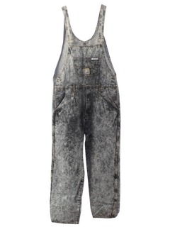 1980's Unisex Stone Washed Totally 80s Overalls Denim Pants