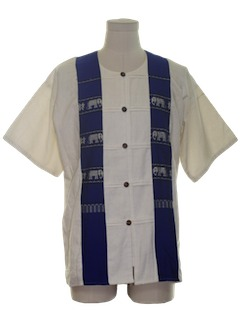 1980's Mens Hippie Tunic Shirt