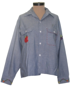 1960's Womens Chambray Hippie Shirt