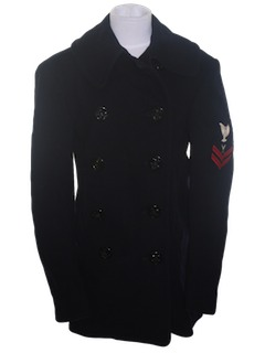 1940's Mens Pea Coat Jacket