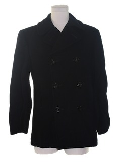 1980's Mens Pea Coat Jacket