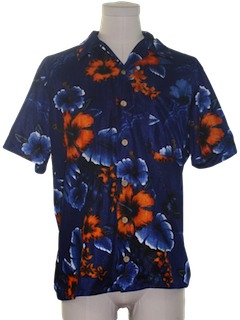 1970's Mens Disco Style Hawaiian Shirt