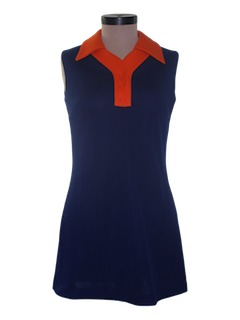 1970's Womens Mini Knit Dress