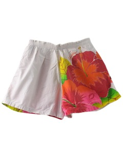1990's Mens Wicked 90s Casual Hawaiian Shorts