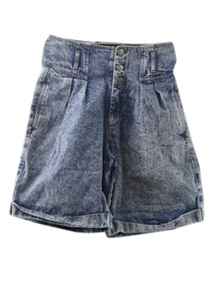 1980's Womens Totally 80s Acid Wash Shorts