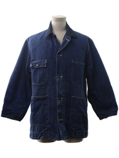1970's Mens Denim Railroad Style Jacket