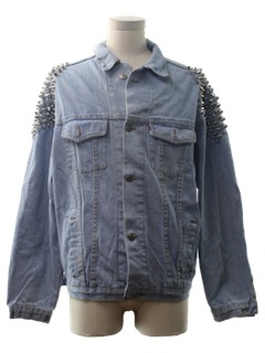 1980's Mens Riot/Punk Studded Denim Jacket