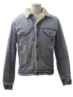 1980's Mens Thrashed Grunge Denim Jacket
