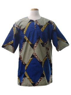 1990's Mens Tunic Hippie Shirt