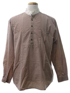1990's Mens Reproduction 1800s Style Western Shirt
