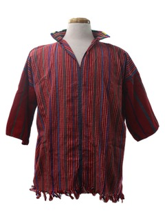 1980's Mens Tunic Hippie Shirt