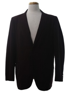 1960's Mens Mod Smoking Jacket Style Blazer Sport Coat Jacket