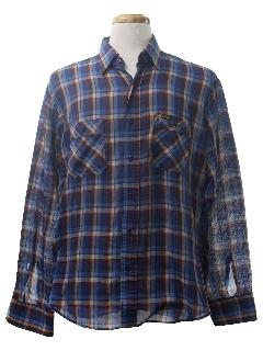 1980's Mens Western Style Shirt
