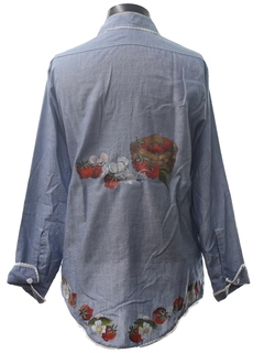 1970's Womens Hand Painted Hippie Shirt