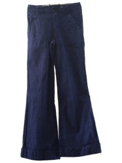 1970's Womens Navy Style Bellbottom Jeans Pants