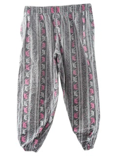 1980's Mens Totally 80s Print Baggy Pants