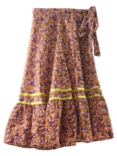 1960's Womens or Girls Hippie Skirt