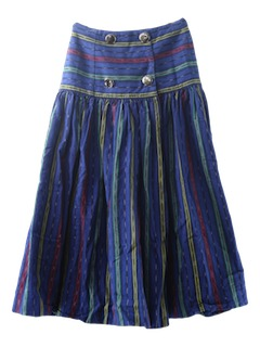 1980's Womens Western Style Hippie Skirt