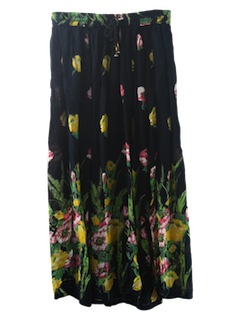 1980's Womens Hippie Broom Stick Skirt