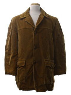 1970's Mens Corduroy Car Coat
