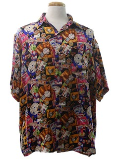 1990's Mens Wicked 90s Sport Shirt