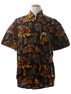 1990's Mens Retro Print Hawaiian Shirt