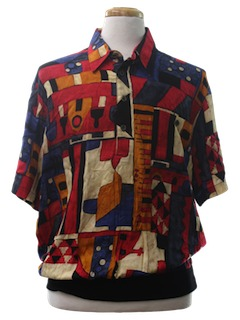 1990's Mens Wicked 90s Print Resort Wear Shirt