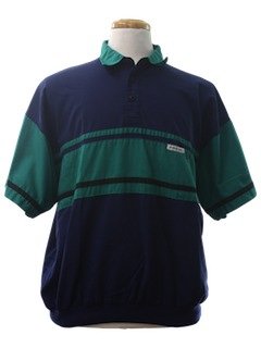 1980's Mens Totally 80s Members Only Golf Shirt